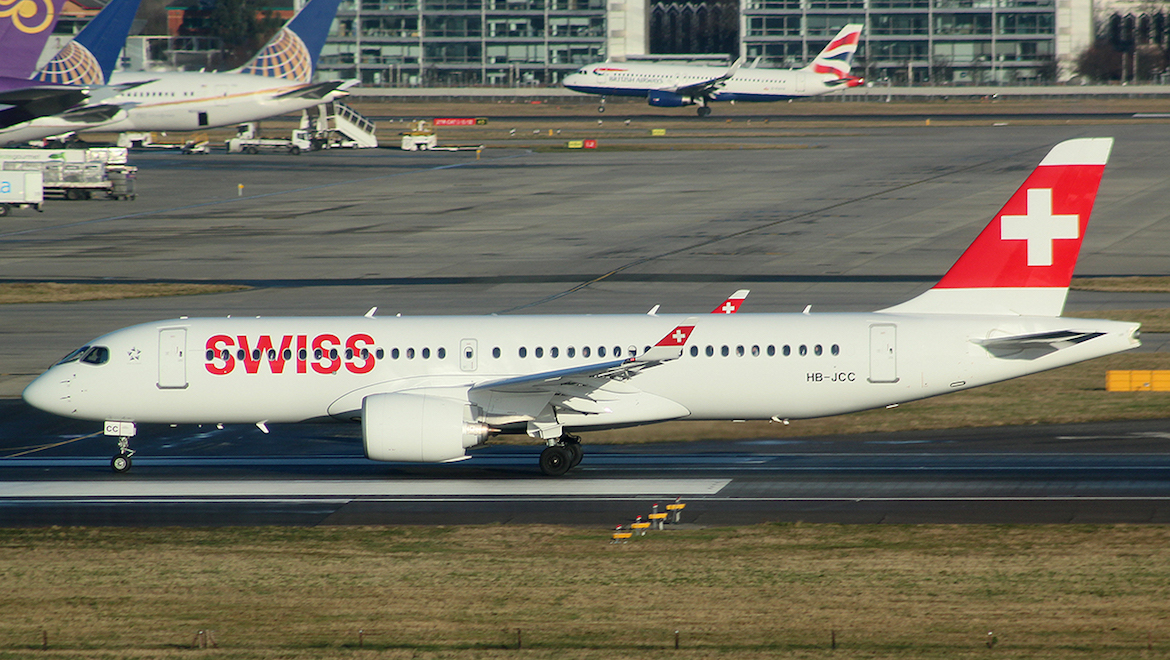 A file image of Swiss A220-300 HB-JCC. (Wikimedia Commons/Mike Burdett)