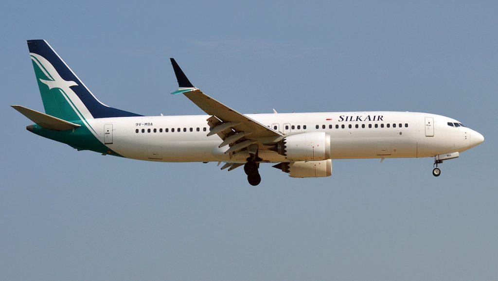 A file image of SilkAir Boeing 737 MAX 8 9V-MBA. (Wikimedia Commons/Anna Zvereva_