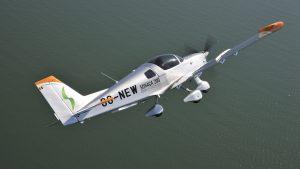The Sonaco 200 OO-NEW in flight. (Keith Wilson/SFB Photographic)