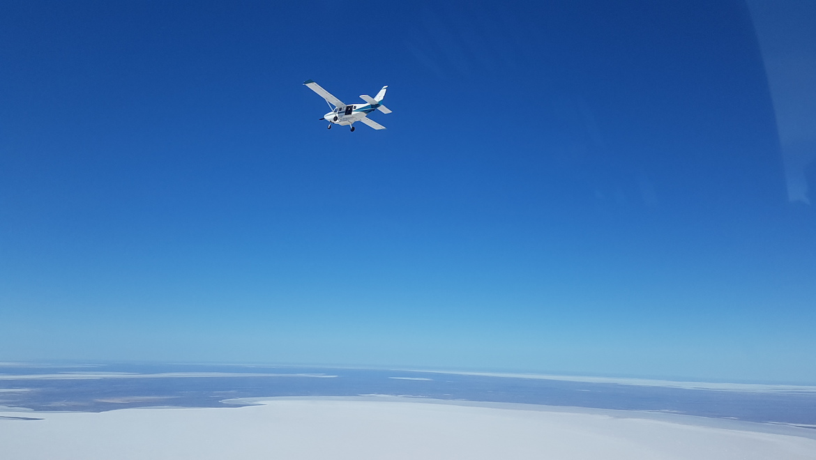 A scenic flight over Lake Eyre. (Wrightsair)