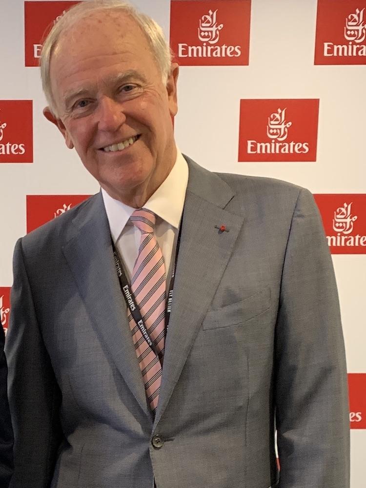 Emirates president Sir Tim Clark at the 2019 Dubai Airshow. (Denise McNabb)