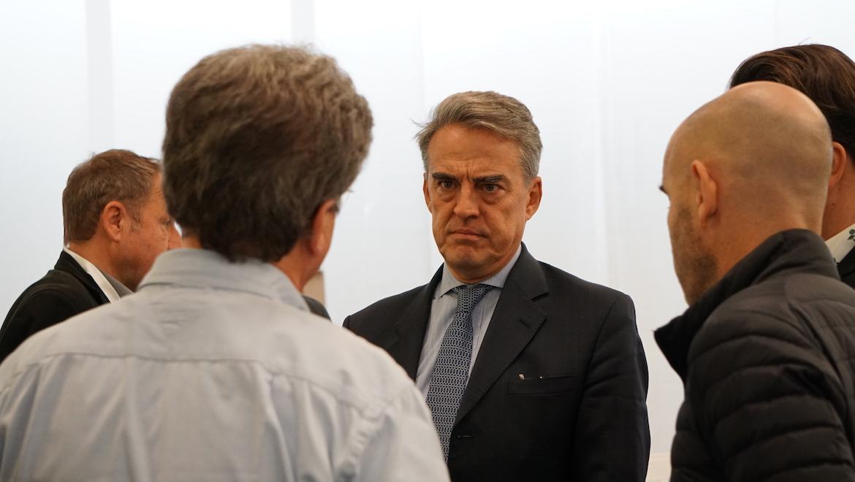 IATA director general and chief executive Alexandre de Juniac at the 2019 global media days. (IATA/Flickr)