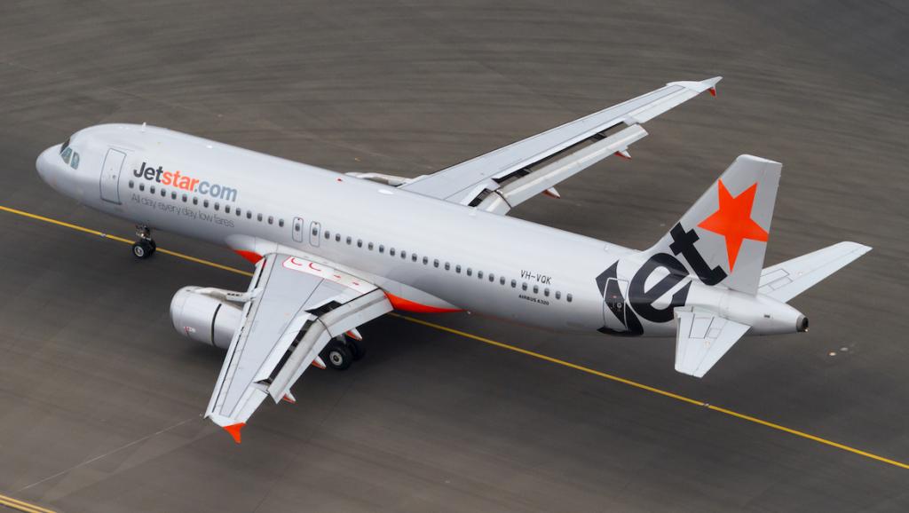 A file image of Jetstar Airbus A320 VH-VQK. (Seth Jaworski)