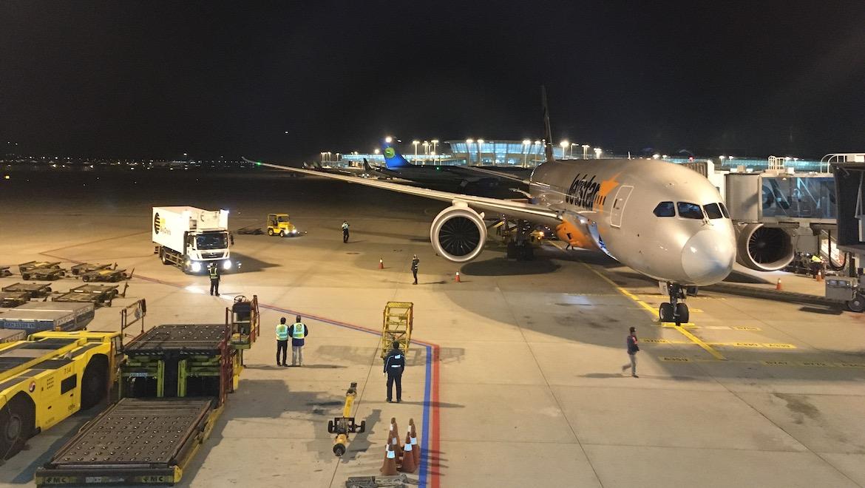 Jetstar Boeing 787-8 VH-VKF at Seoul Incheon Airport on Sunday December 8 2019. (Jordan Chong)