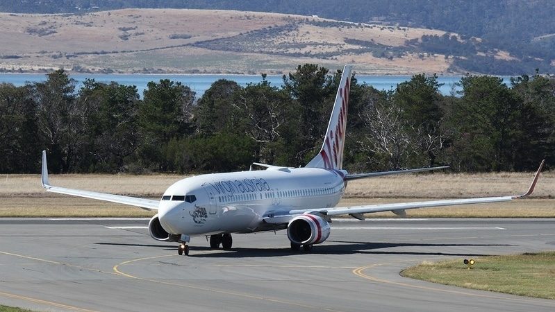 A Virgin Australia Boeing 737-800 Hobart