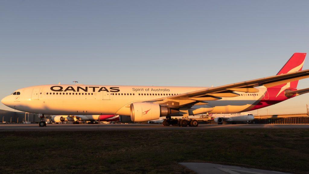 Qantas A330-303 'VH-QPJ' parked at the International Terminal