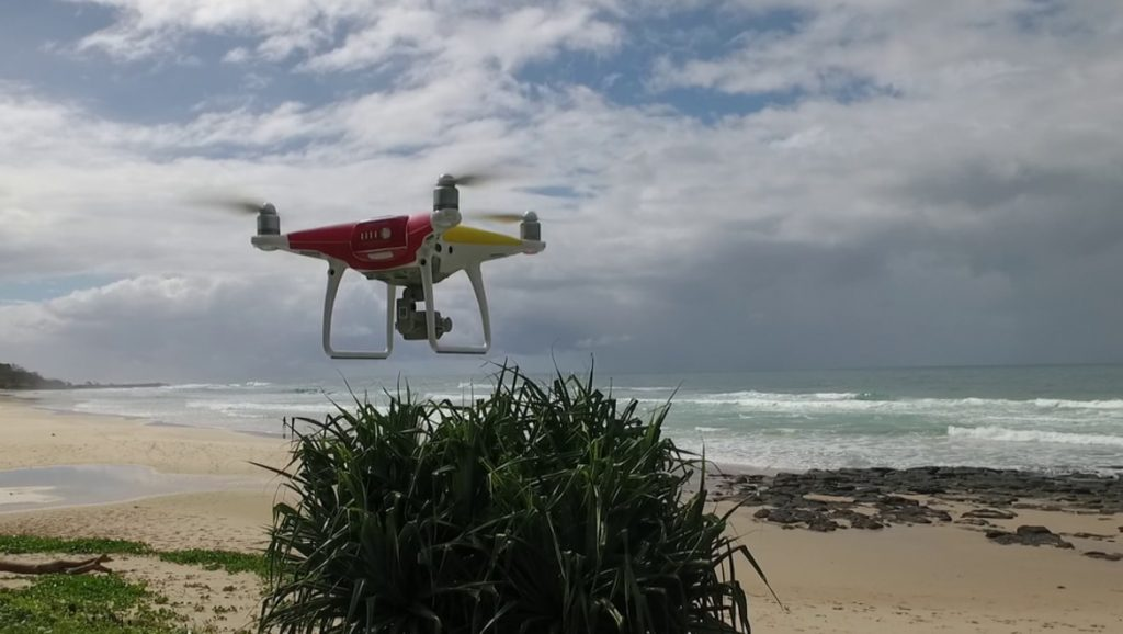 The beach community overwhelmingly prefers drone surveillance to lethal strategies. Andrew Colefax, Author provided