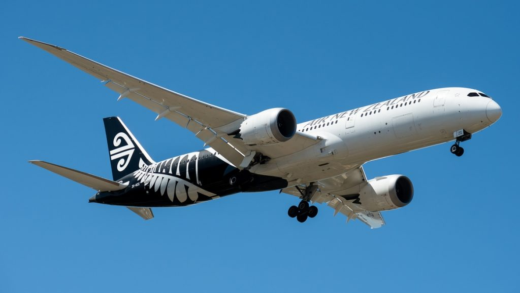Air New Zealand B787 ZK-NZG on approach to Perth Airport 21 March 2021