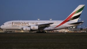 An Emirates A380-861, A6-EDE, as shot by Victor Pody