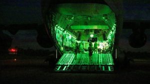 n Air Force aircraft security operations team on the ramp of a C-17A Globemaster III during Precision Gauntlet (Corporal Brett Sherriff Defence)